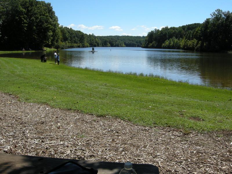 Yatesville Lake Fishing Fishing Along The Lake Bank