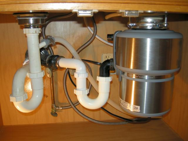 Sinlge New Kitchen Sink Plumbing Connection